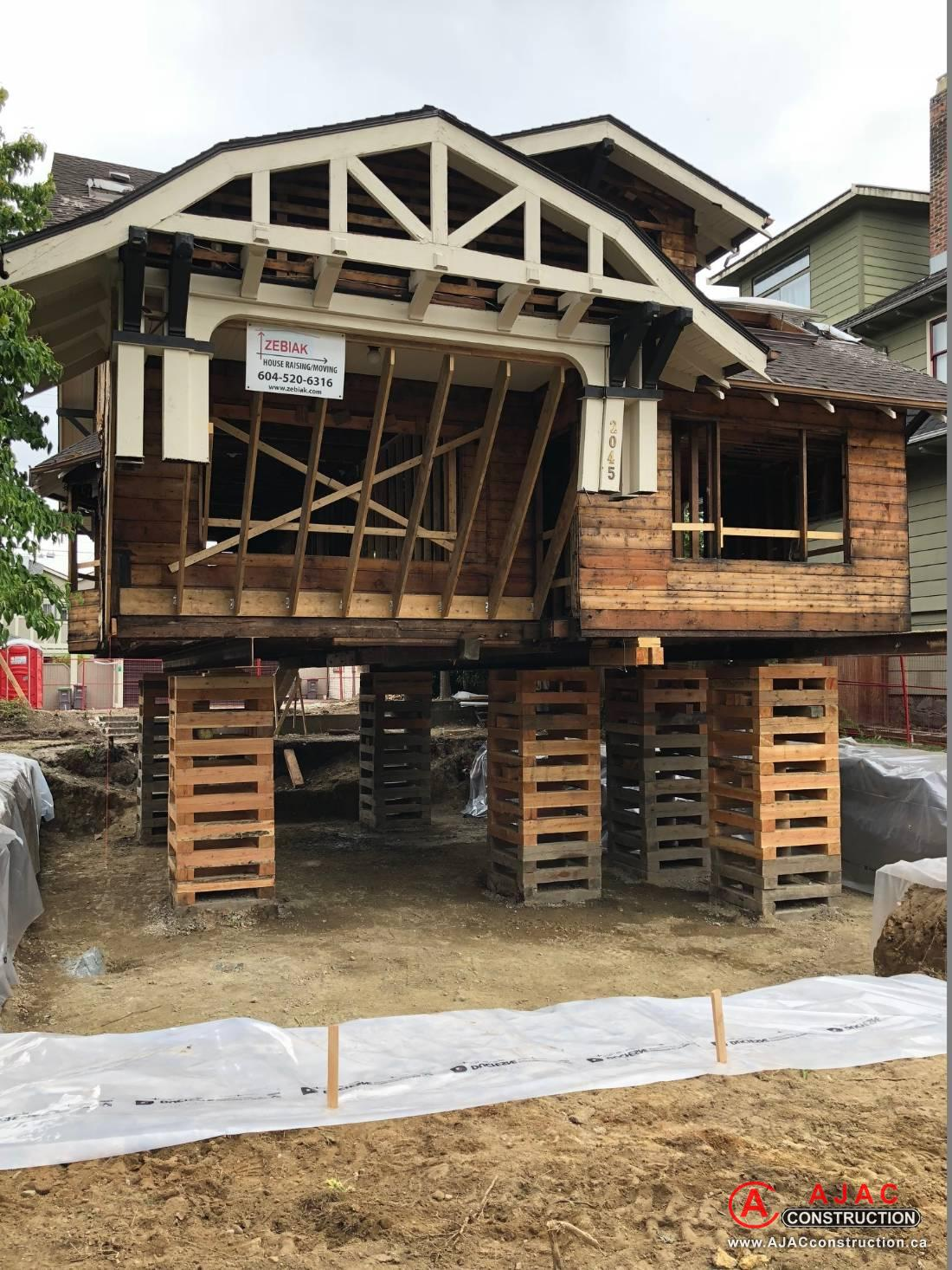 House Lifting Vancouver Excavations Demolition Site Prep Excavating Land Clearing Construction North Vancouver Port Cotuitlam Surrey Langley Surrounding Area
